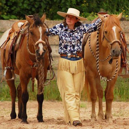 Lisa Bruin and horses
